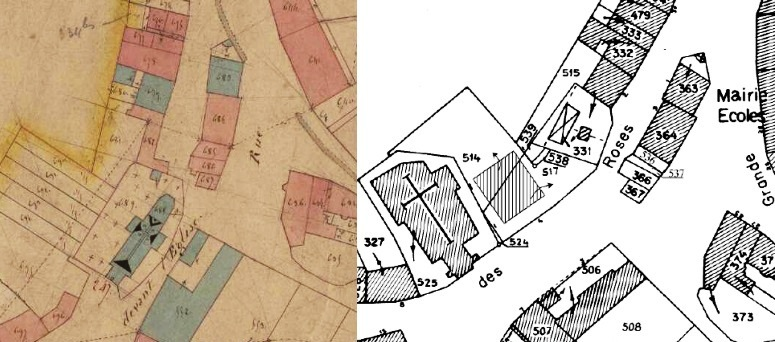 Comparision of cadastral maps of my grandparents' village